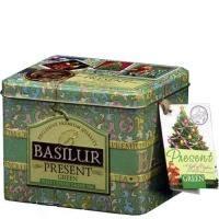 Basilur - Чай зеленый Зеленый подарок - жестяная банка - 100g (4792252100183)