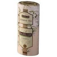 Basilur - Чай зеленый Зеленый + Жасмин 2в1 - жестяная банка - 125g (4792252100640)