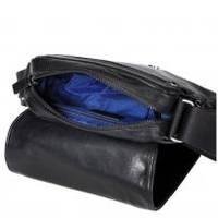 Bugatti - Элегантная сумка через плечо для мужчин, кожа/ткань - Черный (49512601)