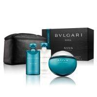 Bvlgari Aqva Pour Homme - Набор (туалетная вода 100 ml + бальзам после бритья 75 ml + гельдля душа 75 ml + косметичка)