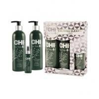 CHI - Набор для волос с маслами чайного дерева Tea Tree Oil Calming Cleanse Trio (шампунь для волос - 355 ml + кондиционер для волос - 355 ml +  успокаивающий спрей - 89 ml) PM8124