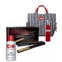 CHI - Набор Полная защита G2 Tote Bag Kit (утюжок керамический + фен +  спрей для волос - 237 ml + восстанавливающий комплекс с шелком - 237 ml + сумка) PM8068