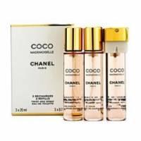 Chanel Coco Mademoiselle - парфюмированная вода - 3x20 ml Refill