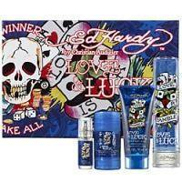Christian Audigier Ed Hardy Love and Luck Men - Набор (Туалетная вода 100 ml + гель для душа 90 ml + дезодорант-стик 80 ml + mini 7.5+ tatoo)