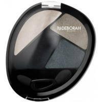 Deborah - Тени для глаз кватро Design Quad Eye Shadow №01 Black - 8 g