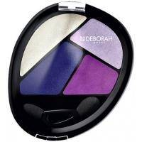 Deborah - Тени для глаз кватро Design Quad Eye Shadow №08 Total Purple  - 8 g