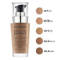 Deborah - Тональная основа Dress Me Perfect  SPF15 №01 Fair - 30 ml
