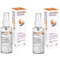 Dry Dry (Драй Драй) Foot Spray - Дезодорант-спрей для ног от обильного потовыделения - 100 ml (1+1)