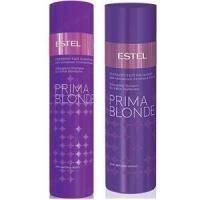 Estel Professional - Набор Prima Blonde (Серебристый шампунь для холодных оттенков блонд 250 ml + Серебристый бальзам для холодных оттенков блонд 200 ml)