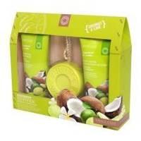 Grace Cole - Набор для тела с ароматом кокоса и лайма Coconut Reviver (гель для душа очищающий, освежающий 150ml+лосьон для тела увлажняющий, питательный 150ml+мыло для тела 100g) (FRW140305)
