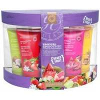 Grace Cole - Набор для тела с ароматом тропических фруктов Tropical Smoothie (гель для душа очищающий, освежающий 4x100ml+мыло для тела 100g+мочалка) (FRW140307)