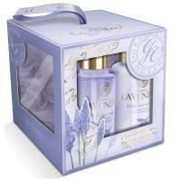 Grace Cole - Набор подарочный с ароматом лаванды Elegant Cleansing (гель для душа 100ml+лосьон для тела 100ml+мочалка) (LAP141103 )