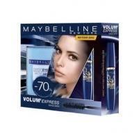 Maybelline - Набор (Тушь для ресниц объемная Volum Express 9.5ml + cредство для снятия макияжа Expert Eyes 125ml)