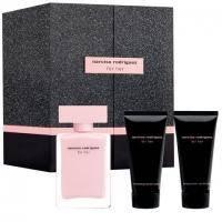 Narciso Rodriguez For Her Eau de Parfum -  Набор (парфюмированная вода 100 + крем для тела 75 + крем для рук 75)