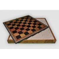 Nigri Scacchi - Коричневая доска-бокс старинная карта Box mappa - Доска 35х35х4 см (CD35M)
