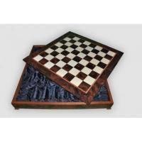 Nigri Scacchi - Шахматное поле-бокс с местом для укладки шахмат Box wood - Доска 64x64х12 (CD64G)