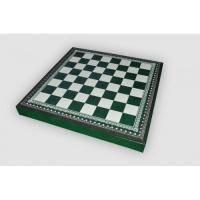 Nigri Scacchi - Шахматное поле-бокс с местом для укладки шахмат (зеленая доска) Box verde - Доска 35х35х4 см (CD33)