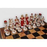 Nigri Scacchi - Шахматные фигуры Battaglia di Troia (small size) - Троянская битва - Фигуры 6-8 см (SP69)