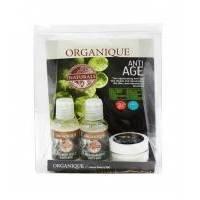 Organique - Мини набор Anti-age ( шампунь против выпадания волос  50ml + восстанавливающий гель для душа 50ml + масло для тела 30ml) (418078Z)