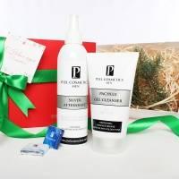 Piel Cosmetics -  Комплекс Тонизирование и очистка для мужской кожи (Тонизирующий гель для умывания Pachuli 150ml + Спрей после бритья SILVER 250ml) (Арт.  MN003)