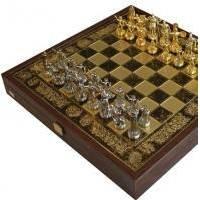 Настольная игра - Шахматы Manopoulos Троянская война - коричневые - 36х36 см