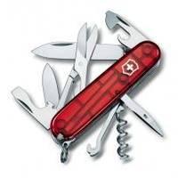 Складной нож Victorinox - Climber - 91 мм, 14 функций красный прозрачный (1.3703Т)