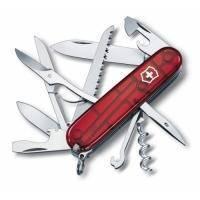 Складной нож Victorinox - Huntsman - 91 мм, 15 функций красный прозрачный (1.3713Т)