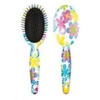 Titania - Овальная массажная щетка для волос Цветы - 10 рядов (1627)