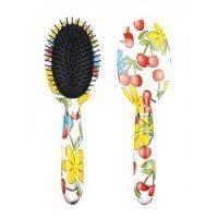 Titania - Овальная массажная щетка для волос Вишня - 10 рядов