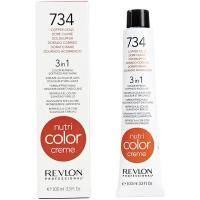 Тонирующий бальзам Revlon Professional - Nutri Color Creme №734 Copper Gold/Медно-Золотой - 100мл