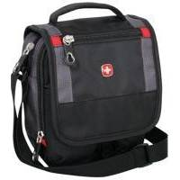 Wenger - Компактная молодежная сумка Mini Boarding Bag Черный Серый - 19х16х10 см (1092239)