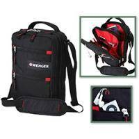 Wenger - Компактная молодежная сумка Mini Vertical  Boarding Bag Черный Красный -  29x22x10 см (18262166 )