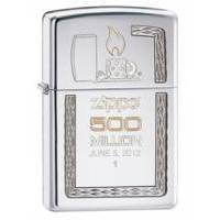 Зажигалка Zippo - 500 Million Limited ED Satin Chrome (28412)
