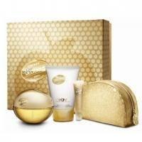 Donna Karan DKNY Golden Delicious -  Набор (парфюмированная вода 100 + лосьон-молочко для тела 100 + блеск для губ 9 ml + косметичка)