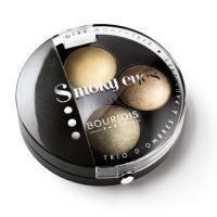 Тени для век 3-цветные компактные Bourjois - Smoky Eyes №02 Оливково-золотой - 4.5 g