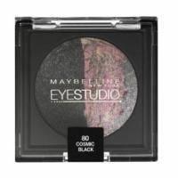 Тени для век 2-цветные запеченные Maybelline - EyeStudio №80 Космический черный - 4.5 g