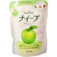 Kanebo Мыло для тела жидкое  для всех типов кожи с экстрактом яблока  (сменная упаковка) - Naive - 420 ml (KN 16757)