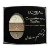 Тени для век 3-цветные компактные L'Oreal - Color Appeal Trio Pro Star Secrets №319 Золотисто-зеленый