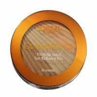 Пудра для лица компактная L'Oreal - Glam Bronze Sun Radiance Trio №202 Brunettes - 11 g