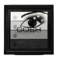 Тени для век Gosh - Smokey Eyes №01 Black/Grey - 8 g