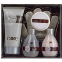 Mades Cosmetics - Core белый чай и имбирь - Набор (гель д/душа 100 мл+лосьон д/тела 200 мл+мыло 50 г+пена д/ванны 100 мл+массажная мочалка-рукавичка)