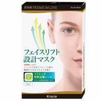 Kanebo Маска-лифтинг для лица с кофеином и экстрактом чая - Hadabisei Premium Line - 3 шт (KN 63015)