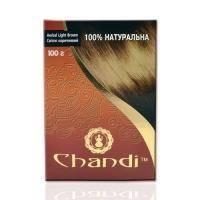 Chandi - Лечебная аюрведическая краска для волос. Светло коричневый - 100 г