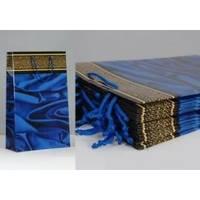 Пакет бумажный Sabona - Ткань синяя - 39x27.5x10
