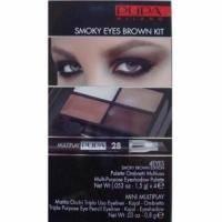 Pupa - Smoky Eyes Kit Коричневый - Набор для макияжа (Тени для век 4-цветные 4Eyes Palette Ombretti Multiuso 09 6 g + Карандаш для глаз Multiplay 28 Коричневый 0.8 g)
