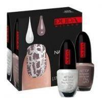 Pupa - Nail Art Kit №992 White&Taupe - Набор для ногтей (Лак Art Base 03 Белый 5 ml + Лак Art Top 16 Серо-коричневый 5 ml)