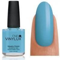 CND Vinylux - Лак для ногтей Azure Wish Нежно-голубой, микроблеск №102 - 15 ml