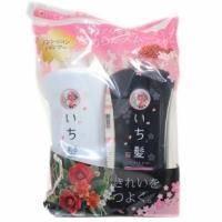 Kanebo - Ichikami - Набор (Шампунь для поврежденных волос, разглаживающий с ароматом горной сакуры Ichikami 530 ml + Бальзам-ополаскиватель для поврежденных волос)