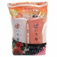 Kanebo - Ichikami - Набор (Шампунь для поврежденных волос, интенсивно увлажняющий с экстрактом масла абрикоса Ichikami 530ml + Бальзам-ополаскиватель для поврежденных волос)