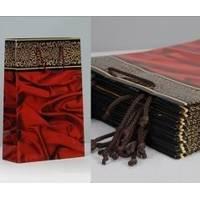 Пакет бумажный Sabona - Красная ткань 34x48x12